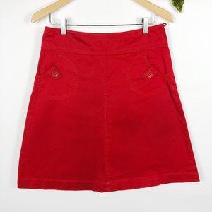 [H&M] Red A-Line Skirt w/ Pockets